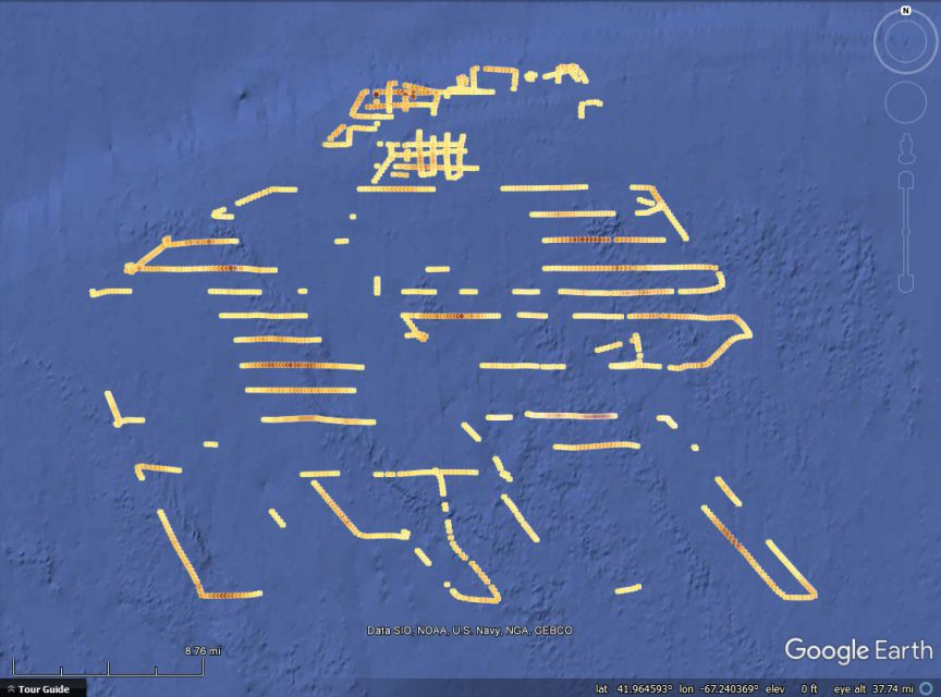 Substrate Maps of 2016 Jersey Cape Cruise